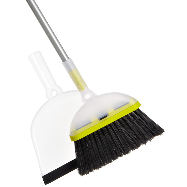 Casabella Ergo Broom & Dustpan Set Translucent/Lime