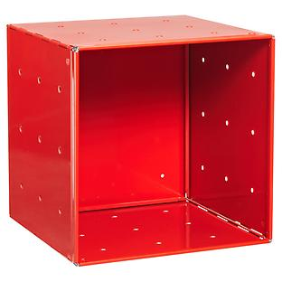 Red Enameled QBO Steel Cube