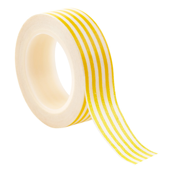 Yellow Stripe Washi Paper Tape