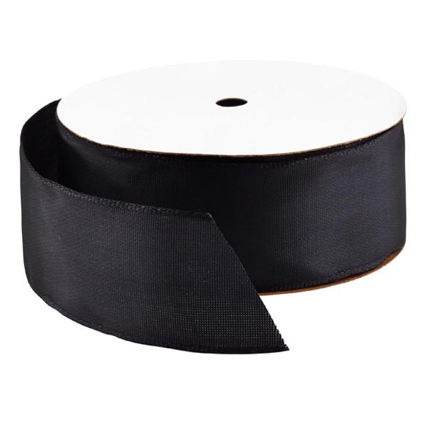 Wired Ribbon Bright Black