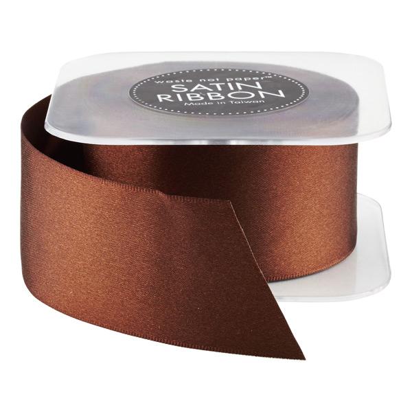 Ribbon Double Satin Chocolate