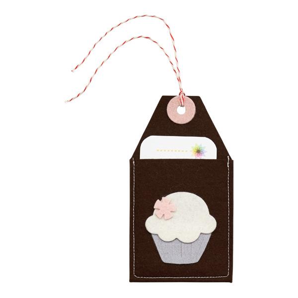Gift Card Holder Felt Cupcake