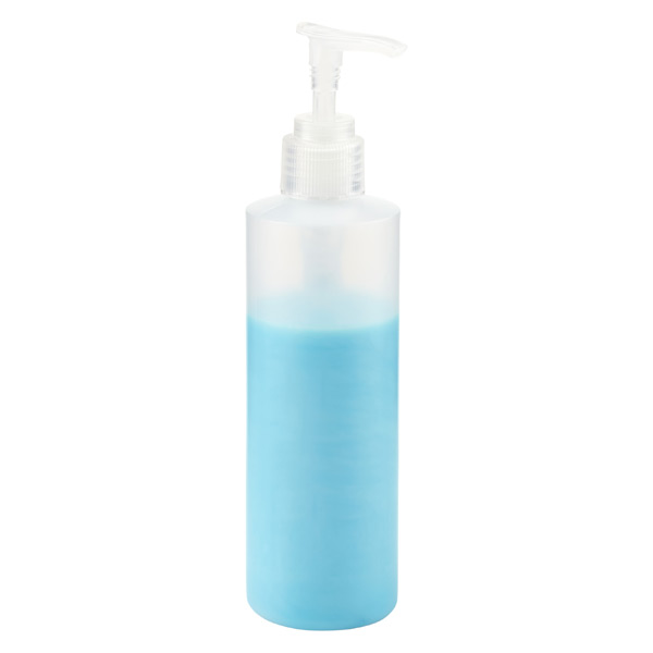 8 oz. Pump Travel Bottle Translucent