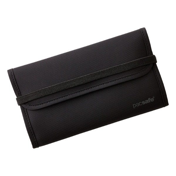 RFID-Blocking Travel Wallet Black