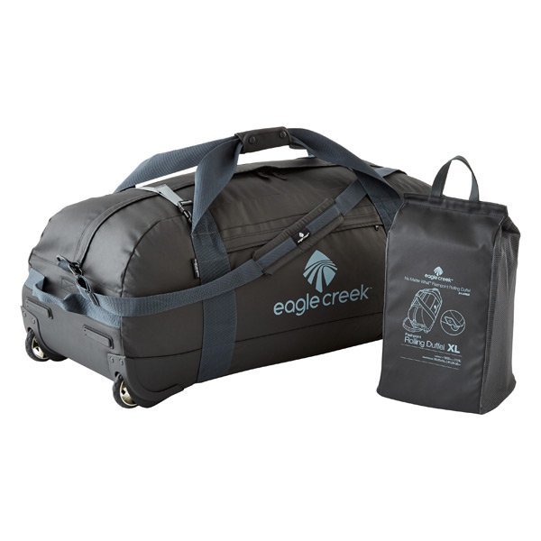 "Eagle Creek Black 36"" No Matter What Collapsible Rolling Duffel"