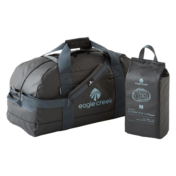 "Eagle Creek™ Black 24"" No Matter What™ Folding Duffel"