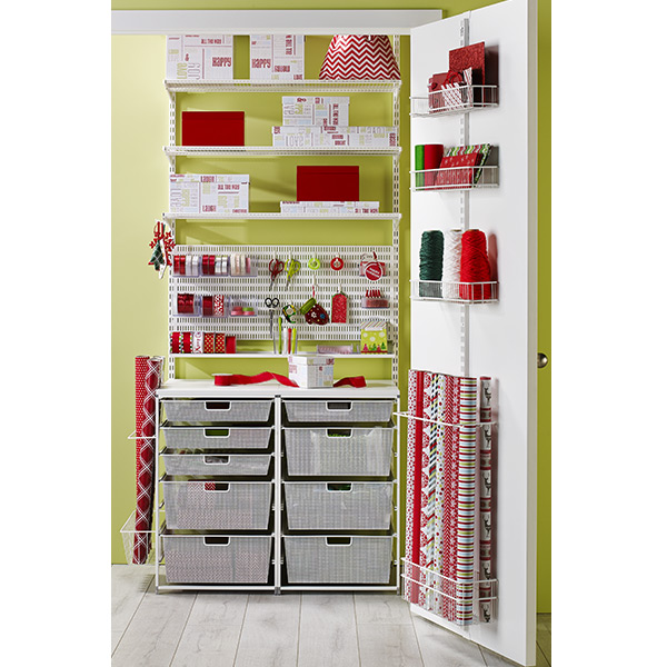 White elfa Wrapper's Dream Closet