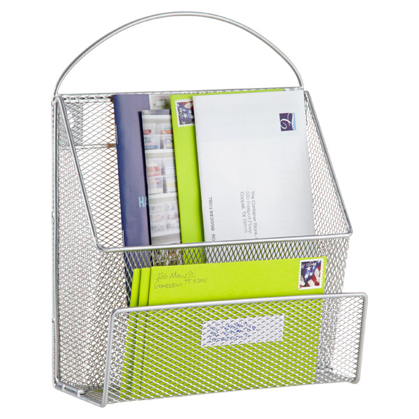Mesh Mail Sorter Silver