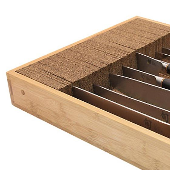 Deluxe Bamboo Knife Dock