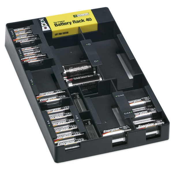 Battery Rack Organizer with Tester