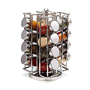 Chrome Spinning Spice Rack