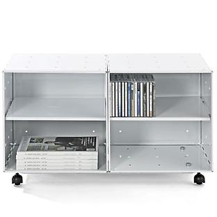Enameled QBO® Steel Cube Storage Table