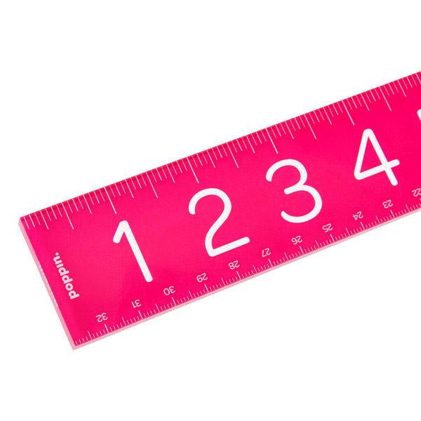 Poppin Acrylic Ruler Pink