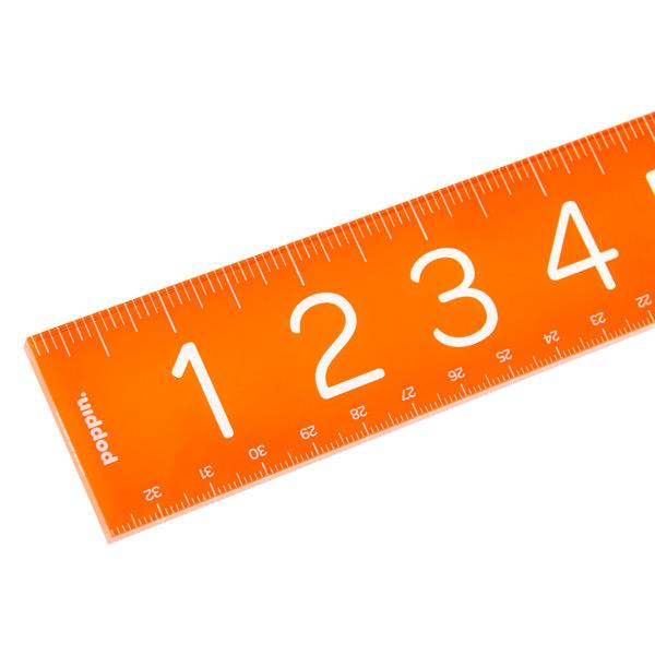 Poppin Acrylic Ruler Orange