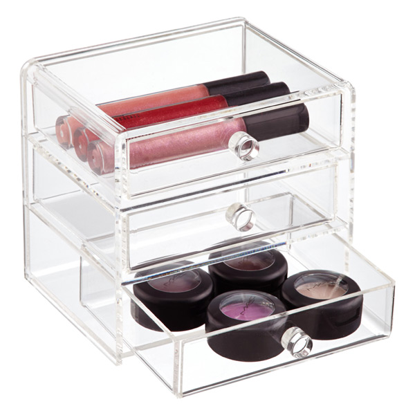 Acrylic 3-Drawer Box Clear