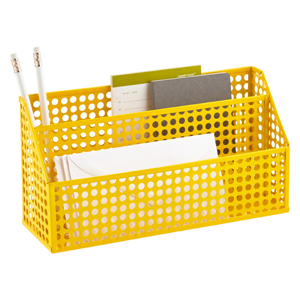 Edison Desktop Organizer Yellow