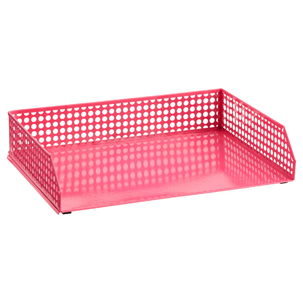 Edison Stacking Letter Tray Pink