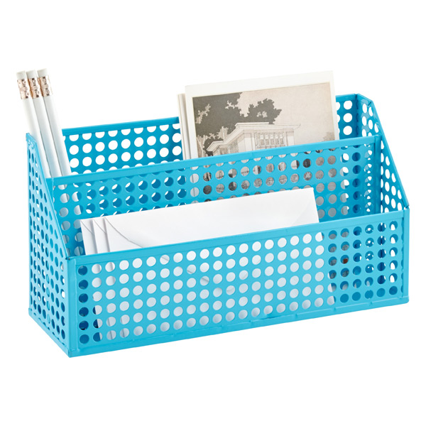 Edison Desktop Organizer Blue
