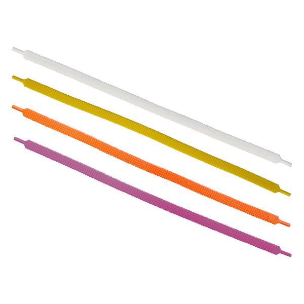 "10"" Silicone Shoelace Cable Ties Citrus Pkg/4"