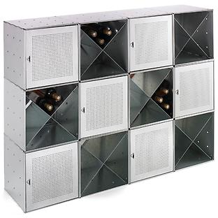 Galvanized QBO Steel Cube Wine Bar