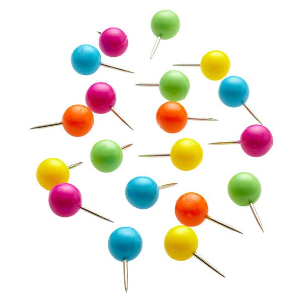 Pushpins Assorted Pkg/250