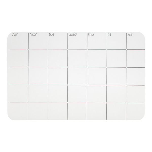Stick-It! Monthly Planner White