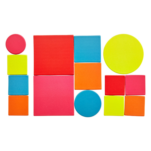 Color Block Magnets Brights Pkg/14