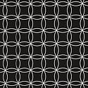 Black Interlocking Circles Treeless Gift Wrap