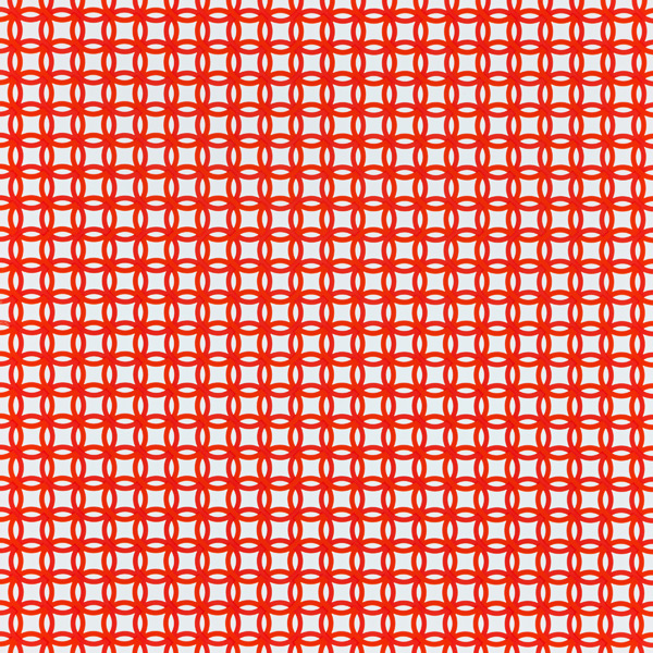 Orange Interlocking Circles Treeless Gift Wrap
