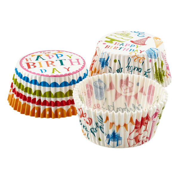 Happy Birthday Cupcake Cases