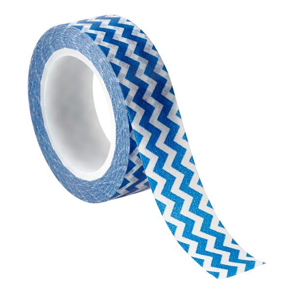 Chevron Decorative Tape Blue