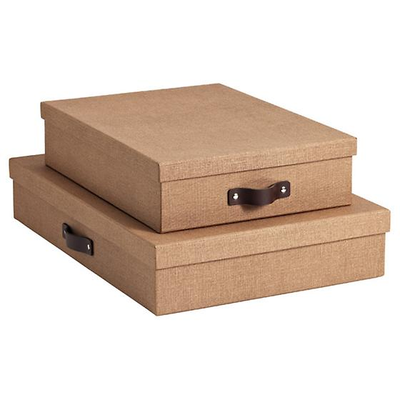 Chestnut Bigso Marten Office Storage Boxes