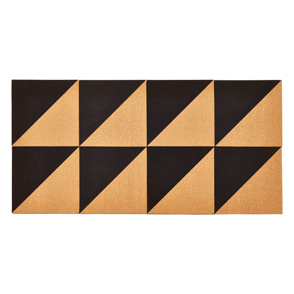 Umbra Graph Cork Board Natural/Black Set of 8