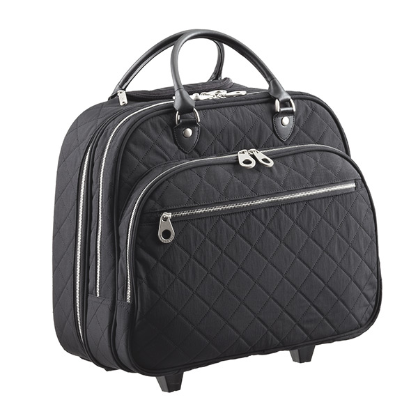 baggallini Quilted Rolling Tote Black