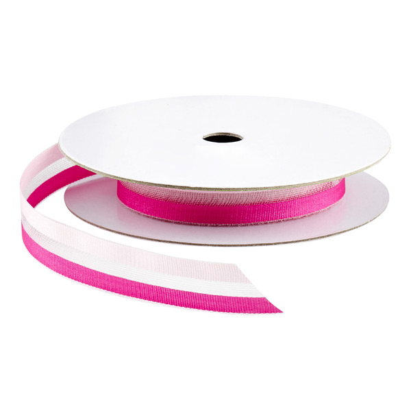 Two-Tone Sheer Ribbon Pink