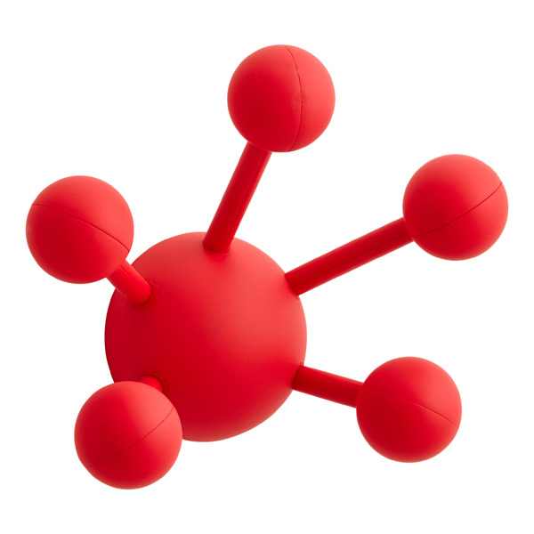 Atom Multi-Purpose Coat Hook Red