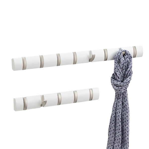 White Flip Hook Racks by Umbra