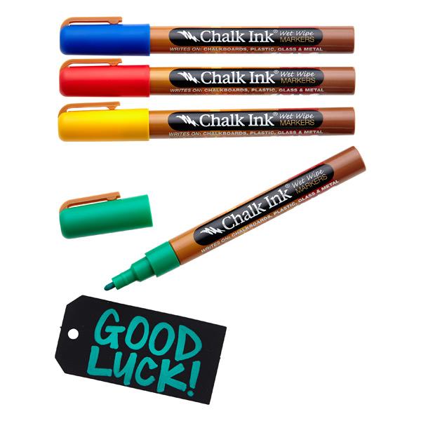 Fine Tip Chalk Markers Classic Pkg/4