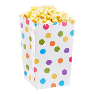 Multi Dot Popcorn Boxes