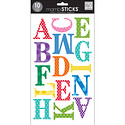 Multi Dots Large Upper Case Alphabet Stickers