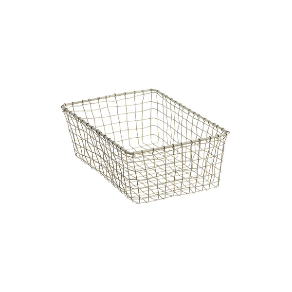 Small Marche Basket Zinc