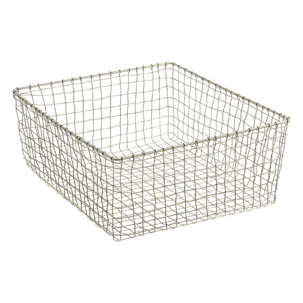 Large Marche Basket Zinc