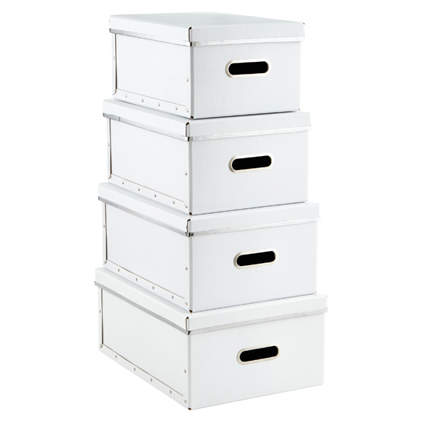 Bigso Store Anywhere Boxes White Set of 4