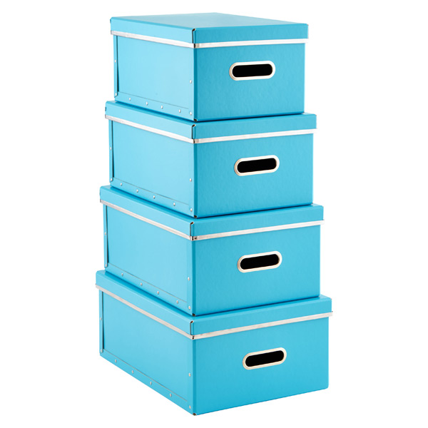 Bigso Store Anywhere Boxes Blue Set of 4