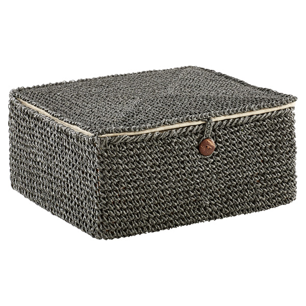 Crochet Box Grey