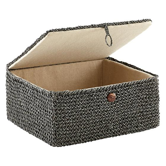Grey Crochet Box