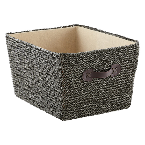 Large Crochet Bin Grey