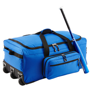 "Blue 31"" Rolling Gear Bag"