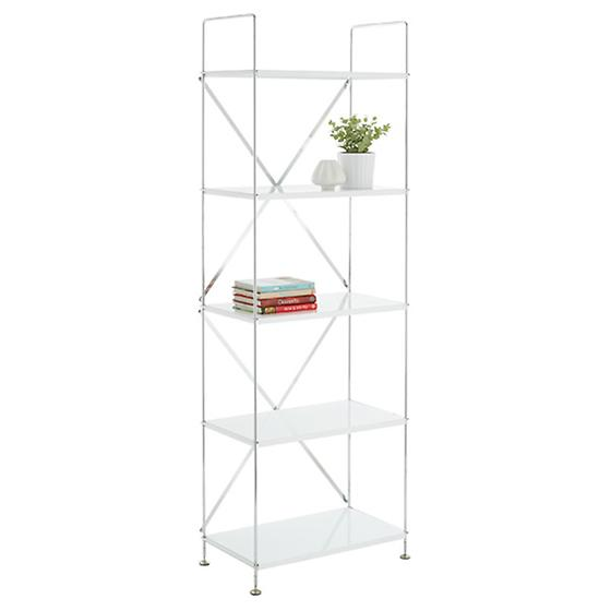 White Barcelona 5-Shelf Bookcase