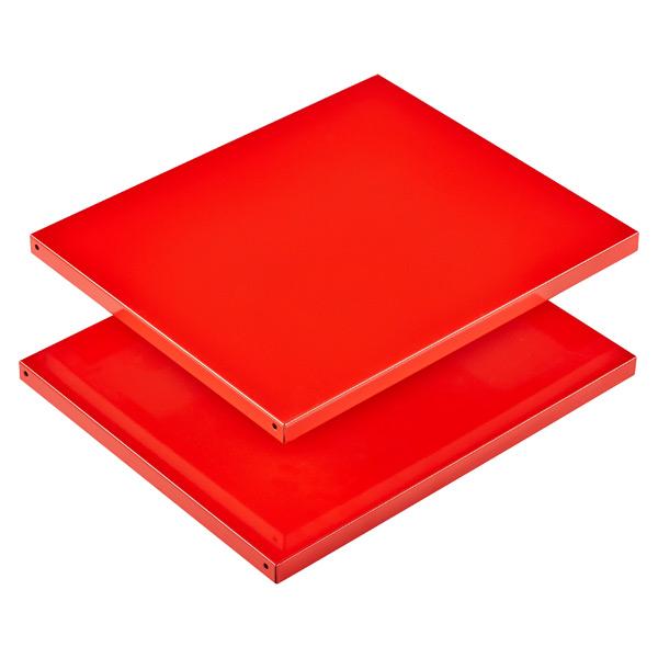 Tall Locker Shelves Red Set of 2
